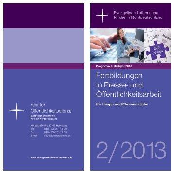 Programm 2/2013 (pdf) - Nordkirche