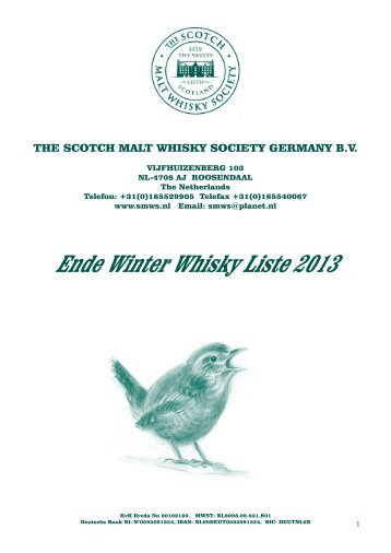 Bottling List Ende Winter (Februar 2013) - bei der Scotch Malt ...