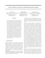 Latent Wishart Processes for Relational Kernel Learning - Computer ...