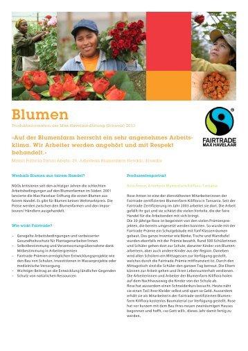 Factsheet Blumen PDF, 619 KB - Max Havelaar