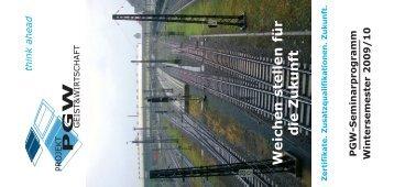 Das neue Programm WS 2009 - Projekt Geist & Wirtschaft eV