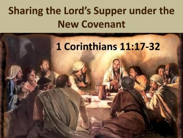 Lord's Supper. - The New Covenant Church Malaysia