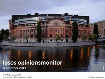 Ipsos Opinionsmonitor september 2013