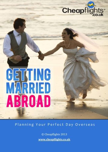 Getting Married Abroad - Cheap Flights