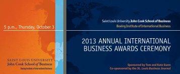 2013 annual international business awards ceremony - Missouri ...