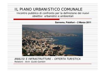 Presentazione INFRASTRUTTURE E TURISMO - Comune di Sanremo