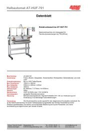 Halbautomat AT-HUF-701 Datenblatt - Alraun Technik GmbH