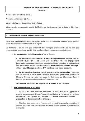Discours de Bruno Le Maire - Datar