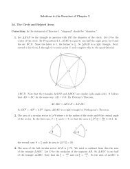 Solutions to the Exercises of Chapter 3 3A. The Circle and Related ...