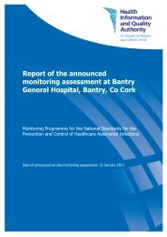 Report of the announced monitoring assessment at Bantry ... - hiqa.ie