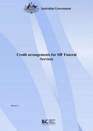 Credit arrangements for SIF Funeral Services - National Register ...