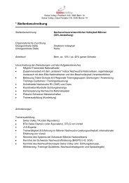 Nachwuchsverantwortliche/r - Swiss Volley