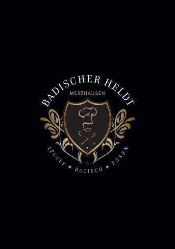 Speisekarte Badischer Heldt Merzhausen - VfR Merzhausen