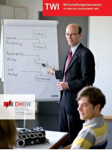 Technisches Management (MB) (TWI) - DHBW Ravensburg Campus ...