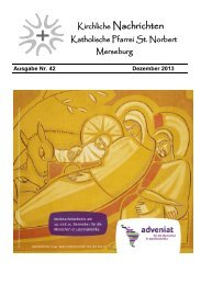 Ausgabe Nr. 42, Dezember 2013 ( PDF -Datei, 889 kB) - Katholische ...