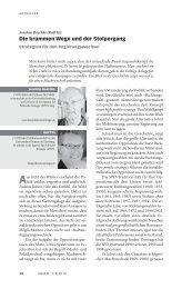 Die krummen Wege und der Stolpergang - APOS