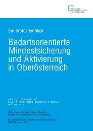 Bedarfsorientierte Mindestsicherung und Aktivierung in Oberösterreich