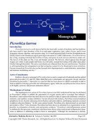Picrorhiza kurroa Monograph - Alternative Medicine Review