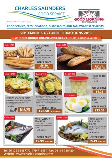 SEPTEMBER & OCTOBER PROMOTIONS 2013 - Charles Saunders