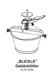 """BLICKLE"" Gebäckfüller - Schneider GmbH"