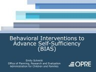 Behavioral Interventions to Advance Self-Sufficiency (BIAS ...
