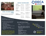 Developing Excellence Celebrating Achievement - DECA Ontario