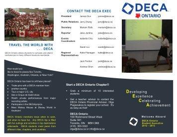 Developing Excellence Celebrating Achievement - DECA Ontario