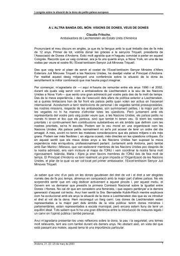 Arreu del món - Associació de Dones d'Andorra - ADA