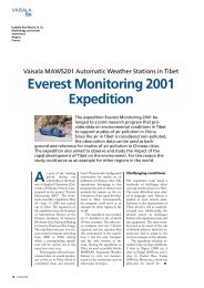 Everest Monitoring 2001 Expedition (pdf, 180KB) - Vaisala