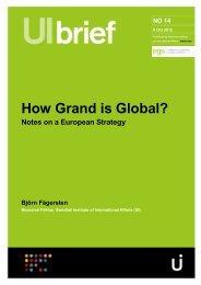How Grand is Global? Fägersten, Swedish Institute of International ...