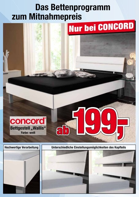 Bettgestell Wallis Matratzen Concord