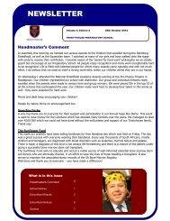 Newsletter Volume 4 Edition 2 26 October 2012 - Trinityhouse Schools
