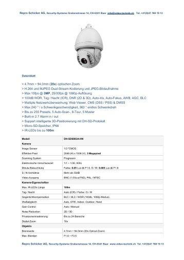 Datenblatt - Repro Schicker AG
