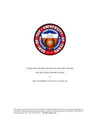 Dissertation Guide (FALL 2013) - The University of Texas at Dallas