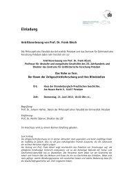 Einladung zur Antrittsvorlesung und Antwortflyer - Zentrum für ...