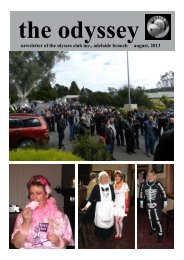 newsletter of the ulysses club inc., adelaide branch august, 2013