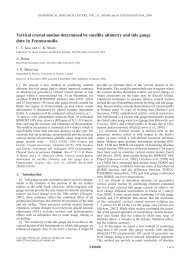 Vertical crustal motion determined by satellite altimetry and tide ...