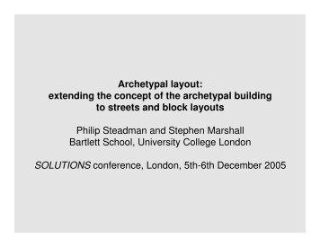 Archetypal layout: extending the concept of the ... - SOLUTIONS