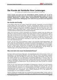 Der Kunde als Verkäufer Ihrer Leistungen - Orga-fit.de