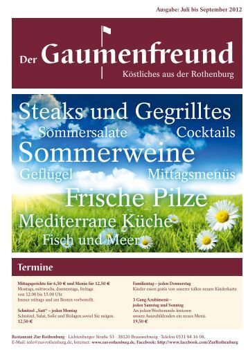 Gaumenfreund 3-2012 - Restaurant zur Rothenburg