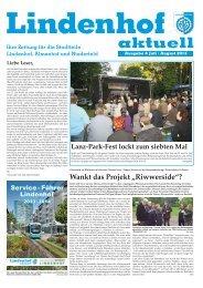 Ausgabe 06-2013 - Lindenhof aktuell