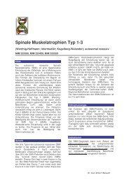 Spinale Muskelatrophien Typ 1-3 - Maiwald, Dr. Robert Maiwald