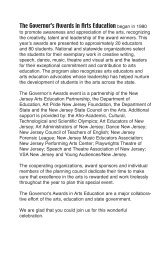 overnor's Awards ad book 05 - New Jersey Arts Education Partnership