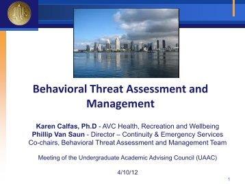 Behavioral Threat Assessment & Management - Academic Affairs ...