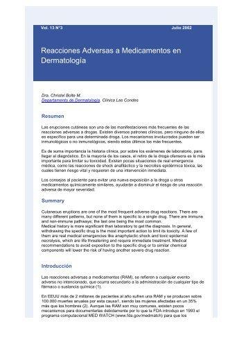 Reacciones Adversas a Medicamentos en Dermatología