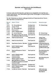 Spender und Sponsoren des Schiffbaues 2001-2007 - Rollisegler