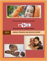 ANNUAL PROGRESS AND SERVICES REPORT - Child and Family ...