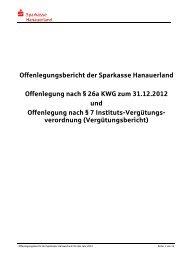 Offenlegungsbericht und Vergütungsbericht 2012 - Sparkasse ...
