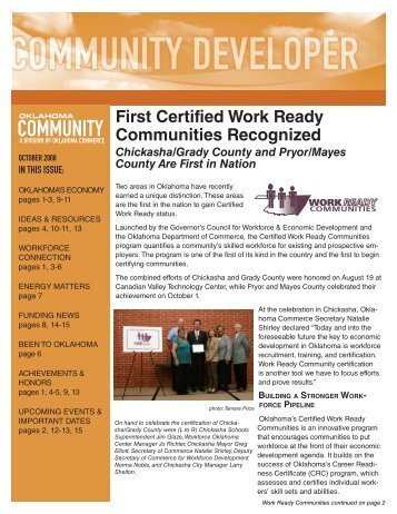 2008-9 October Community Developer - Oklahoma Department of ...
