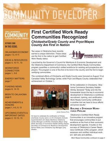 2008-9 October Community Developer - Oklahoma Department of ...